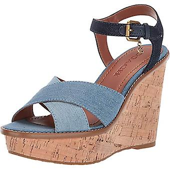 Coach Women's Cross Band High Wedge Sandal
