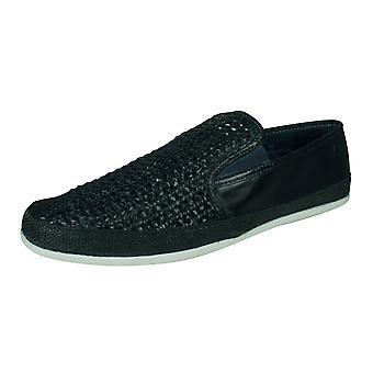 Base Lontoon Stage miesten slip on kutoa nahkainen ajo loafers/kengät-Navy