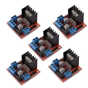 5 st L298n Motor Drive Controller Board Dc Dual H-bridge Robot Stepper Motor Control And Drives Module För Arduino Smart Car Po (som visas)
