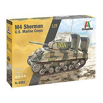 Italeri M4 Sherman U.S. Marines 1:35 Scale Model Kit