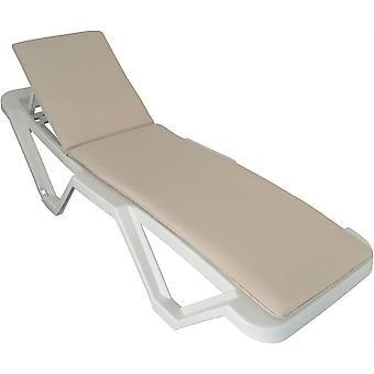 Ligstoelkussen - Beige, Crème, Natuurlijke Kleur - Past op de meeste ligstoelen inclusief Resol Master en Marina