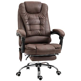 Vinsetto Heated 6 Points Vibration Massage Executive Office Chair Adjustable Swivel Ergonomic High Back Desk Chair Recliner with Footrest