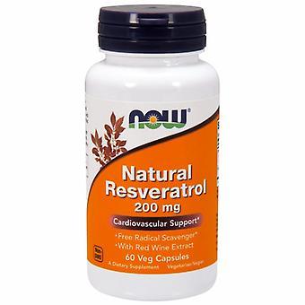 Nyt Elintarvikkeet Natural Resveratrol, 200 Mg, 60 VCaps