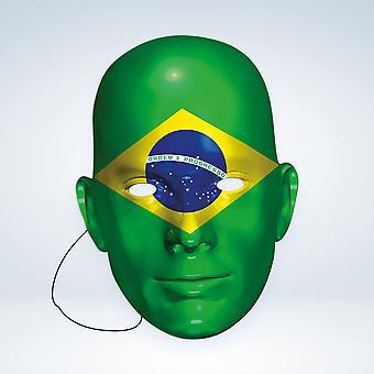 Máscara-arade Brasil Bandera Fiesta Máscara de Cara