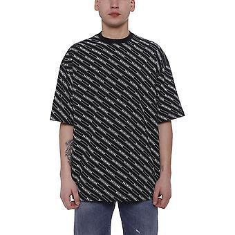 Balenciaga 570805tev541000 Män's Svart Bomull T-shirt