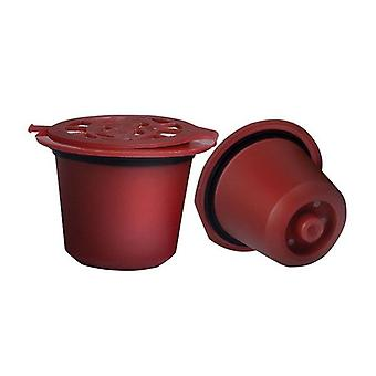 Nespresso Machine Reusable Red Coffee Filter Capsules 10pcs