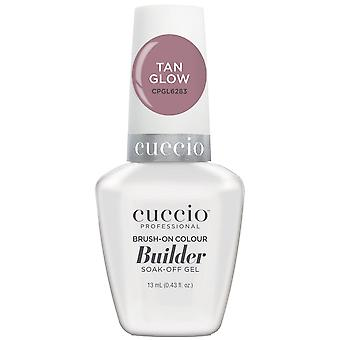 Cuccio LED/UV Soak Off Gel Polish Brush On Colour Builder - Tan Glow 13ml (CPGL6283)