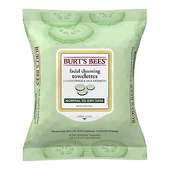 Burt's Bees Facial Cleansing Towelettes, Cucumber and Sage, 30 Count