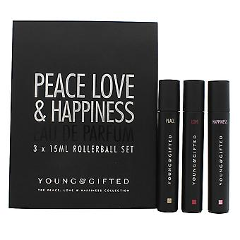 Young & Gifted Gift Set 3 x 15ml EDP Rollerball (Peace + Love + Happiness)