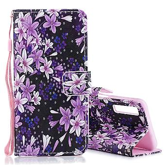 Lily Pattern Horizontal Flip Leather Case for Galaxy A7 (2018), with Holder & Card Slots & Wallet