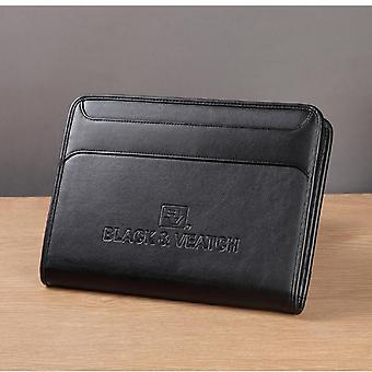 Multifunctional Padfolio Folder Document Bag With Cellphone Pocket