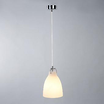 Italux Leonardo - Moderno pendente appeso Chrome 1 Luce con tonalità vetro, E14