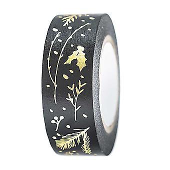 Black and Gold Washi Craft Tape 10m