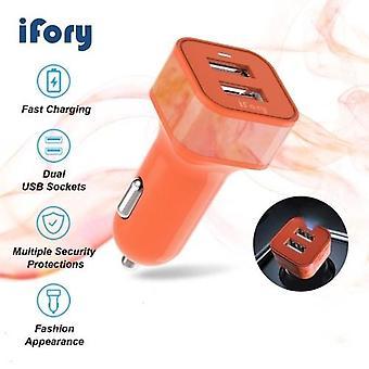 iFory سيارة شحن محول 36W شحن سريع مع منافذ USB المزدوج