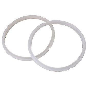 2Pieces Silica Gel Sealing Ring for Electric Pressure Cooker 3L/4L Blanc