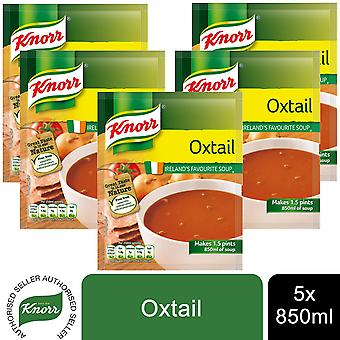 5 Pack Knorr Ireland's Favorite Soup, Makes 1.5Pints, Oxtail 850ml
