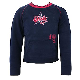 Nike Kinder Sweatshirt Mädchen Grafik Logo Jumper Navy 423166 451