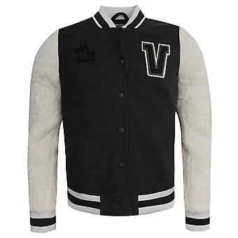 Vans Off The Wall University Fleece Zip Up Varsity Jacket 2Y7875 A41E A113B