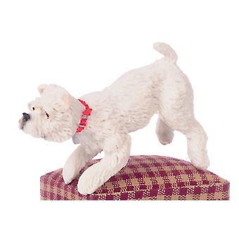 Dolls House White West Highland Terrier Leg Up Miniature Pet Dog