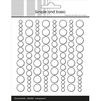 Simple and Basic Adhesive Enamel Dots Clear Water