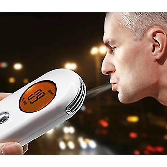 Profesyonel Alkol Nefes Test Cihazı Breathalyzer Analizörü Dedektörü (beyaz)
