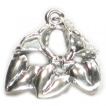 Honeysuckle Flower Sterling Silver Charm .925 X 1 Honey Suckles Charms - 1572