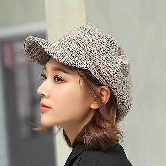 Autumn/winter Wool Fashion Newsboy Cap Thick Warm Vintage Bonnet