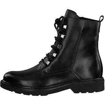 Botines Low Heels Negro Nappa