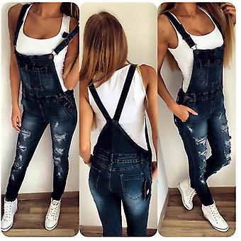 Nouveaux jeans Summer Denim Female Pockets Wash Overalls