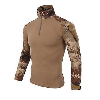 us army militær uniform airsoft kamuflasje kamp-bevist langermet skjorte