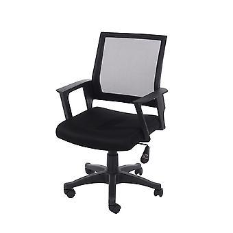 home office chair in black mesh black fabric black base