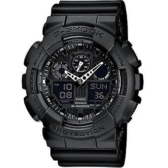 G-Shock Ga-100-1a1er Analogue & Digital Black Resin Men's Watch