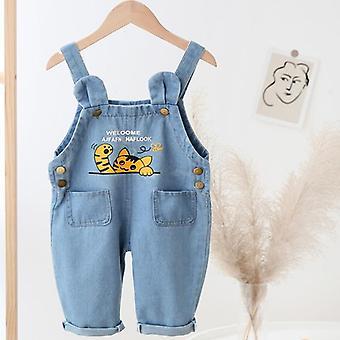 Baby Casual Pantaloni Jumpsuit Denim Dungarees Jeans Playsuit