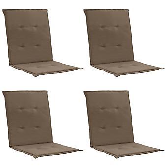 vidaXL garden chair edition 4 pezzi. Taupe 100 x 50 x 3 cm