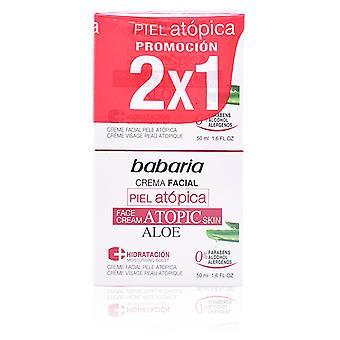 Babaria Crème Atopic Skin Facial Cream Aloe 0% Pack 2 pièces