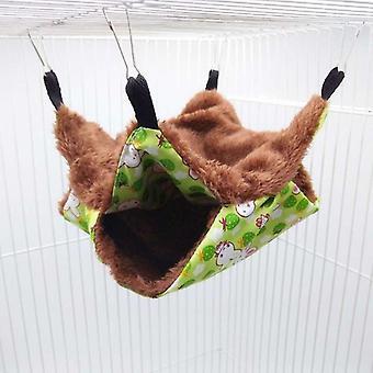 Kisállat függőágy kétrétegű plüss puha téli meleg lógó fészek