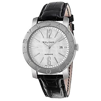Bvlgari Bvlgari Automatic White Dial Stainless Steel Leather Men's Watch 101379