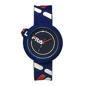 FILA 38-6081-005 Gemengde Horloges - Blauwe Siliconen Armband