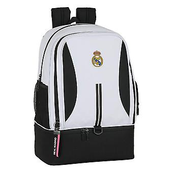 Sports Bag with Shoe holder Real Madrid C.F. 20/21 White Black