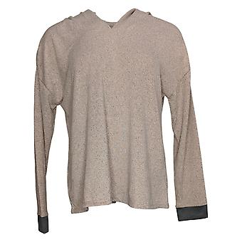 Cuddl Duds Women's So Cozy Marled Knit Regular Pajama Top Beige A381721
