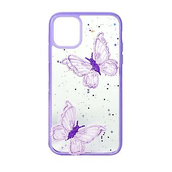 Phone Case (Purple) Butterfly ShockProof Soft TPU Silicone For iPhone 11 Pro