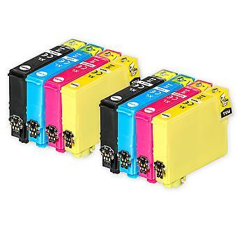 2 Sæt med 4 blækpatroner til at erstatte Epson 502XL-kompatibel/ikke-OEM fra Go-blæk (8 trykfarver)