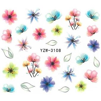 Vand decals - Blomster - YZW-3108 - For negle