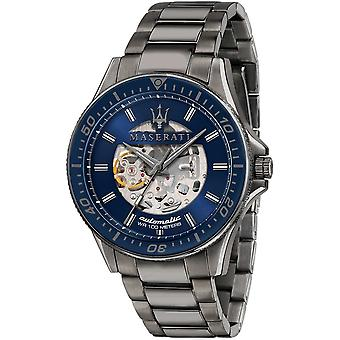 Maserati R8823140001 Men's Sfida Automatic Gunmetal Grey Bracelet Wristwatch