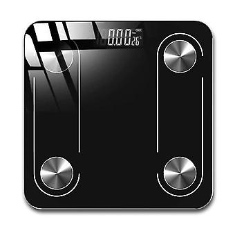 Bluetooth smart fat scale electronic weighing scale(Black)