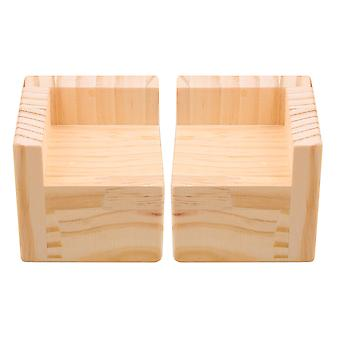 2x L-shaped Bed Riser Furniture Risers for Couch Sofa Bed Chair Table