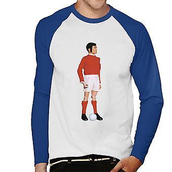 Action Man Footballer Men's Baseball Long Sleeved T-Shirt