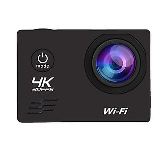 Hd 4k/60fps Wifi 16mp 2.0 Lcd 170d Lens Casca 30m Go Impermeabil Pro Sport
