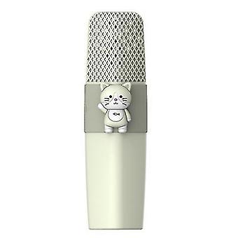 Kedi yeşil k9 kablosuz bluetooth mikrofon ktv şarkı çocuklar çizgi film mikrofon az8574