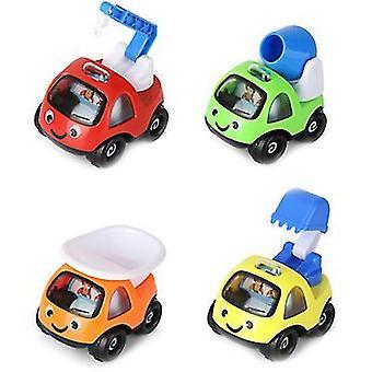 2Kpls 8.5 * 7 * 9cm keltainen lasten lelu auto inertia auto malli suunnittelu auto poika tyttö koulutus lelu lahja az18195